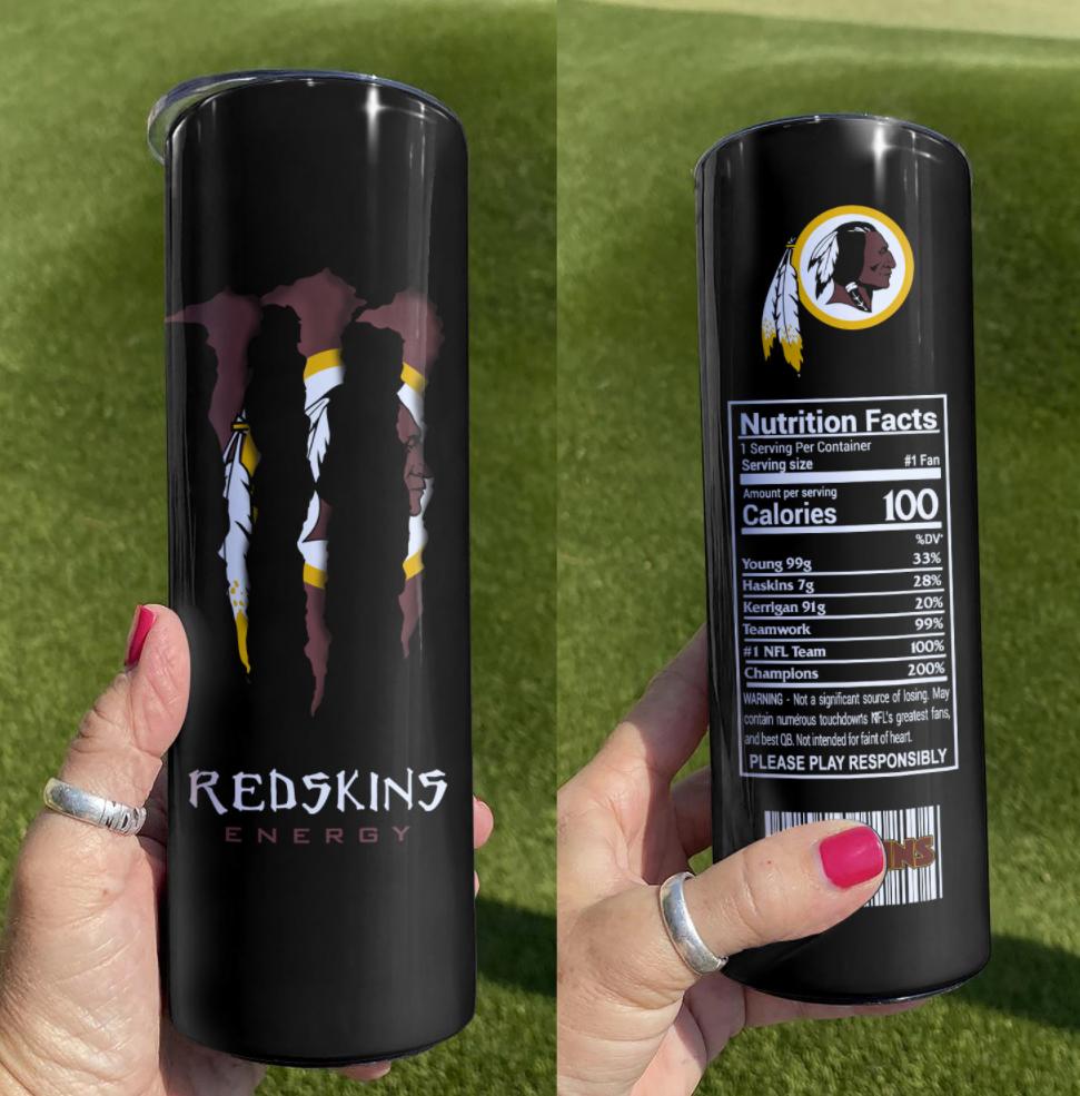 Redskins energy skinny tumbler