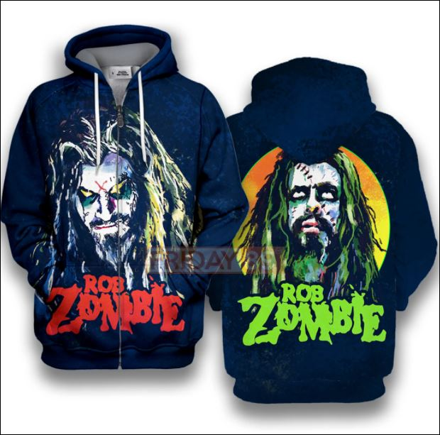 Rob zombie 3D all over printed zip hoodie
