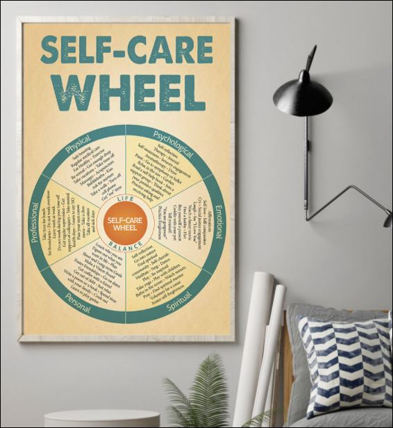 Self care wheel poster 1