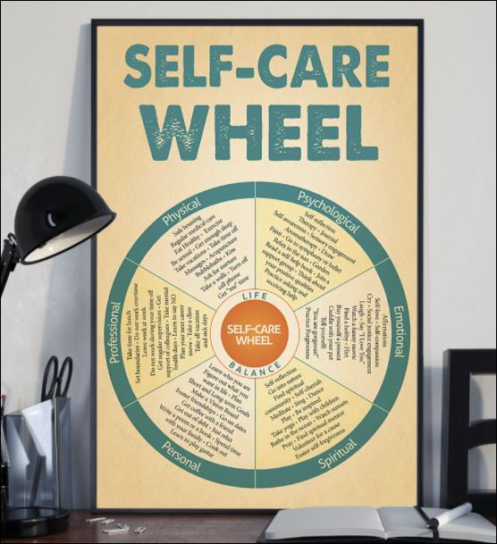 Self care wheel poster 2