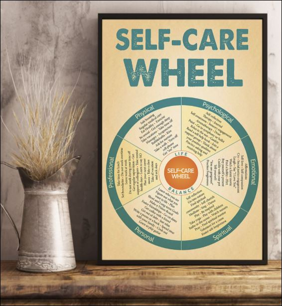 Self care wheel poster 3