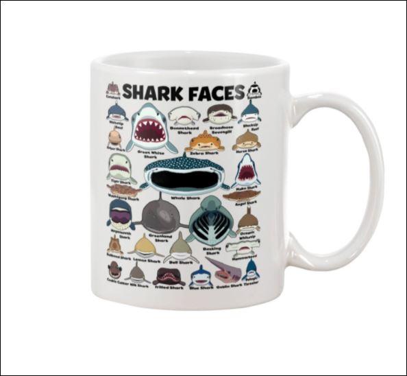 Shark faces mug