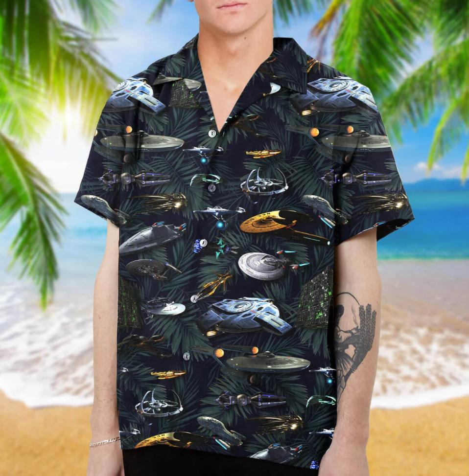 Star Trek spaceship hawaiian shirt