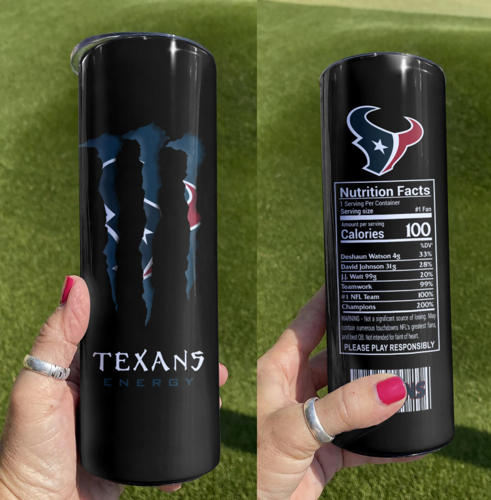 Texas Energy skinny tumbler