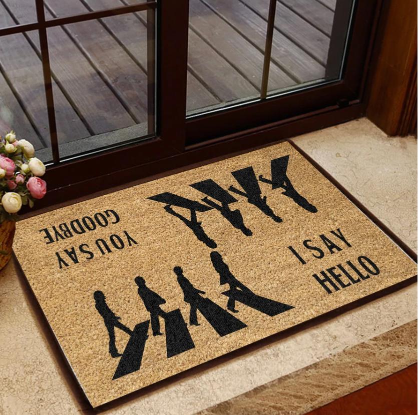 The Beatles Abbey Road i say hello you say goodbye doormat