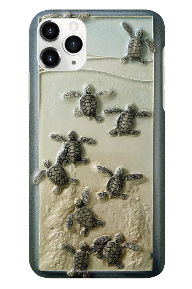 Turtle and beach 3D phone case