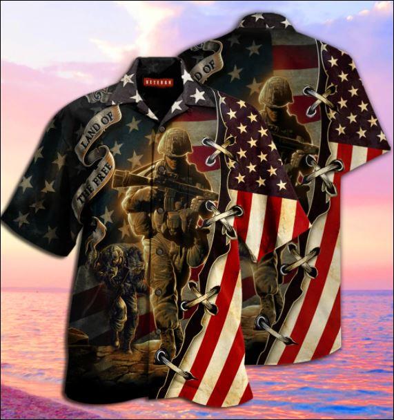 Veteran land of the free hawaiian shirt