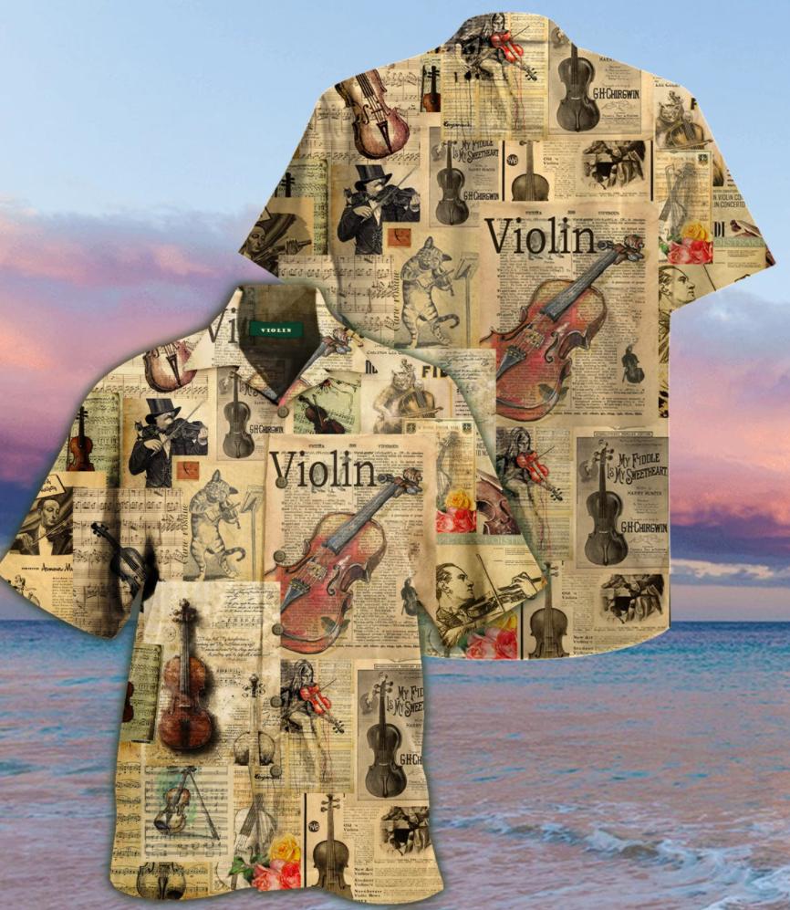 Violin hawaiian shirt
