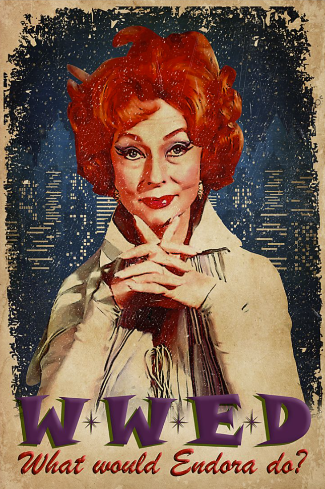 WWED what would Endora do poster