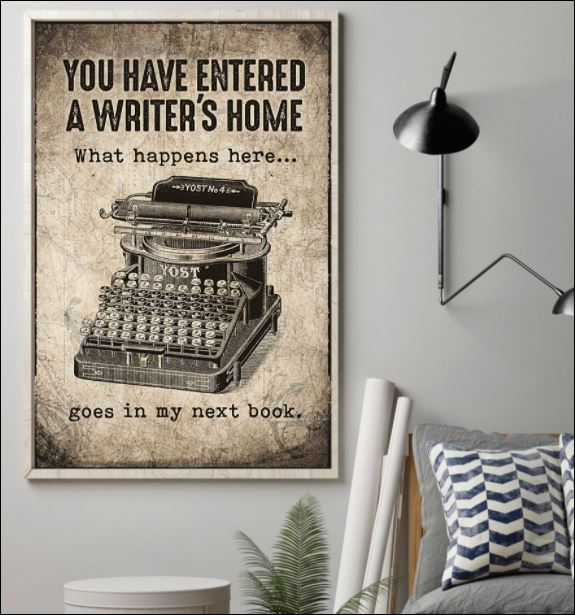 You have entered a writer's home poster 1