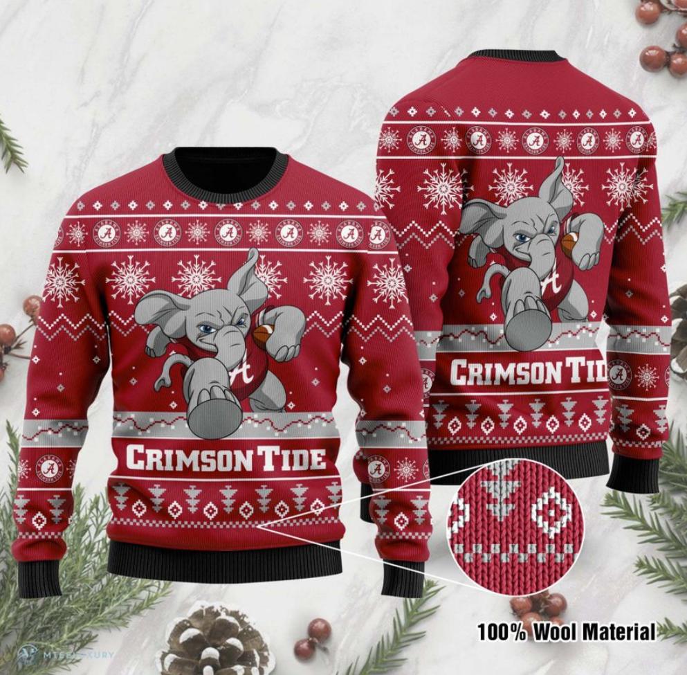 Alabama Crimson Tide football ugly sweater