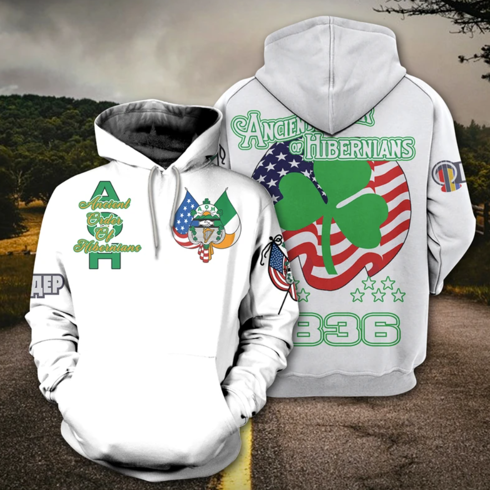 Ancient Order of Hibernians all over printed 3D hoodie