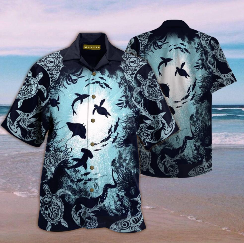 Aquarium life hawaiian shirt