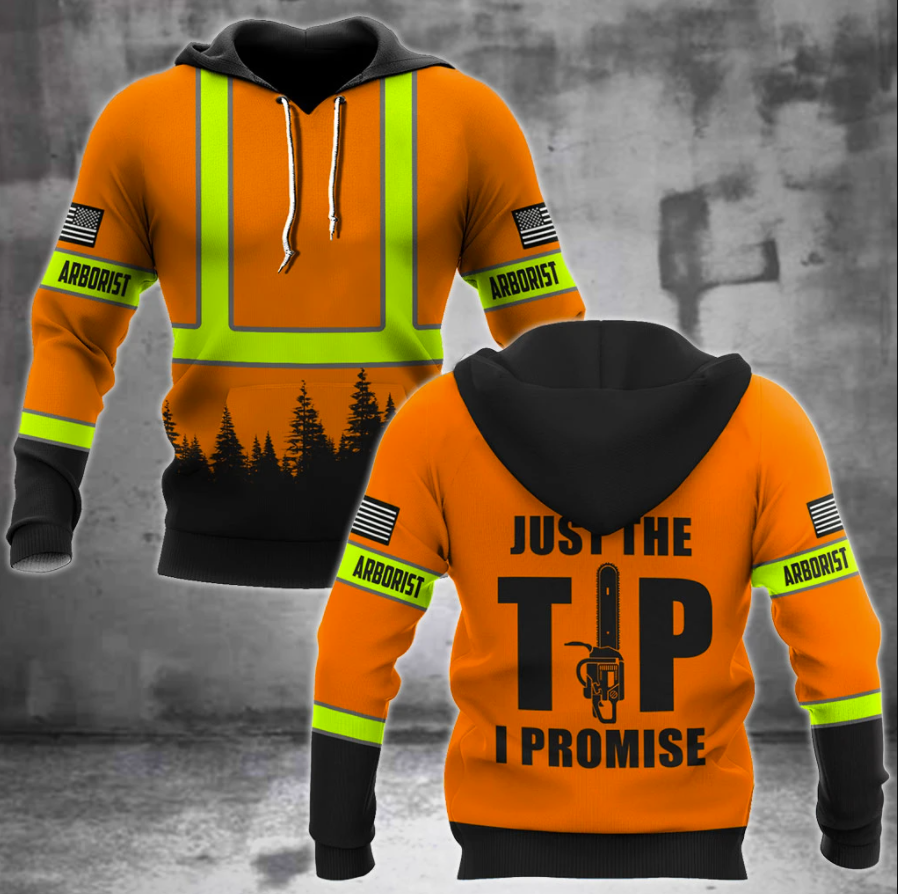 Arborist just the tip i promise all over printed 3D hoodie