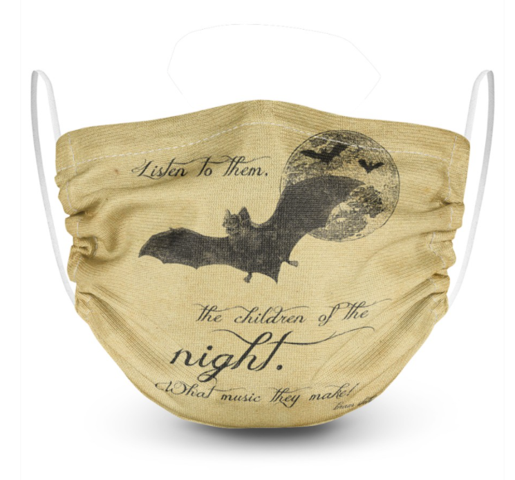Bat listen to them the children of the night face mask