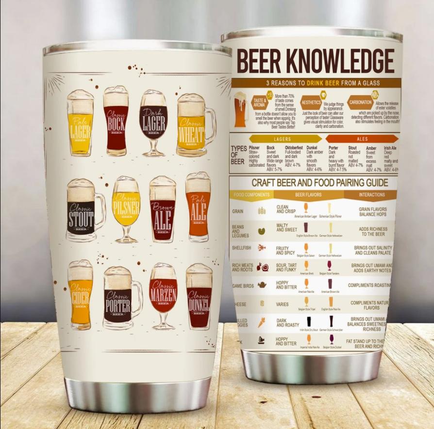 Beer knowledge tumbler