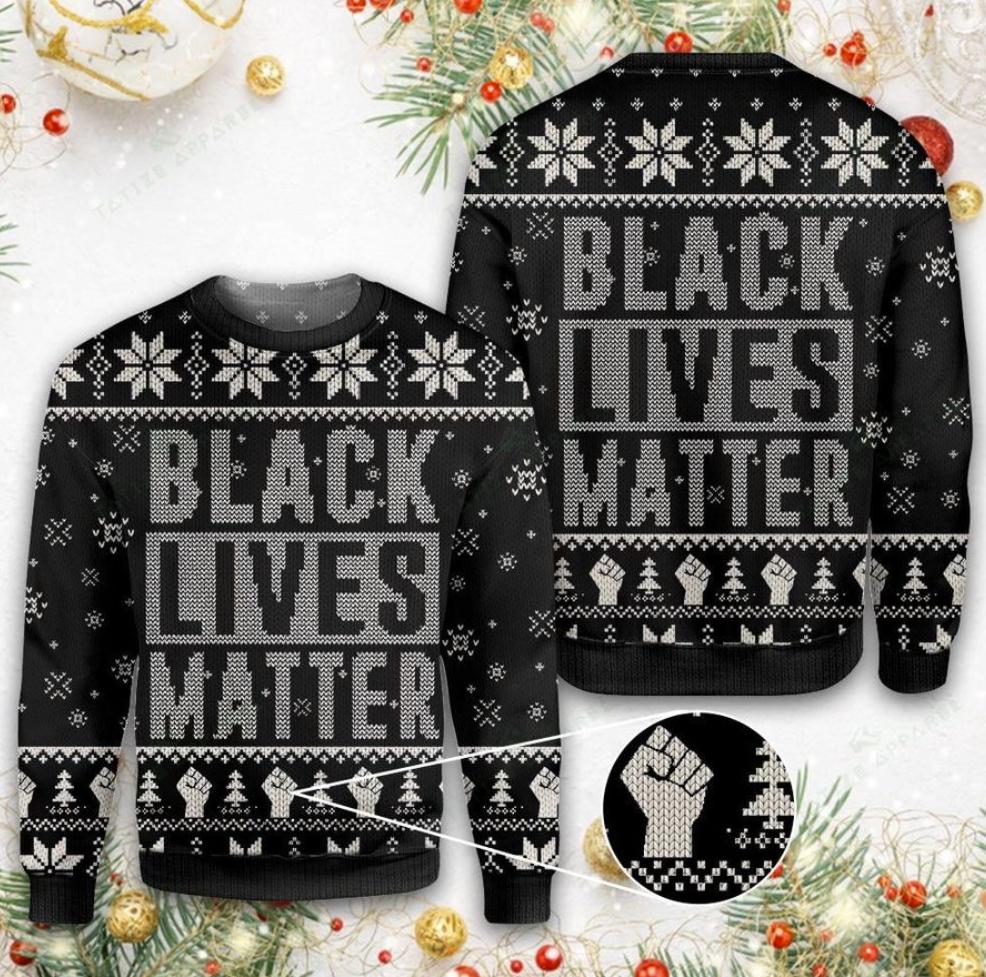 Black lives matter 3D ugly sweater
