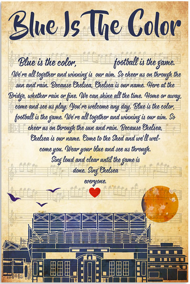 Blue is the color lyric poster