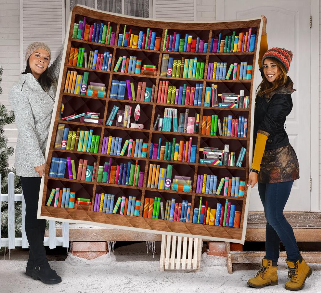 Bookshelf 3D quilt