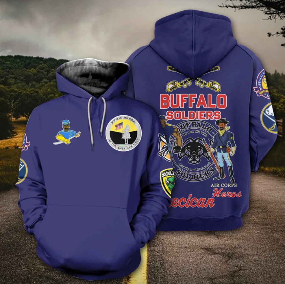 Buffalo Soldier all over printed 3D hoodie