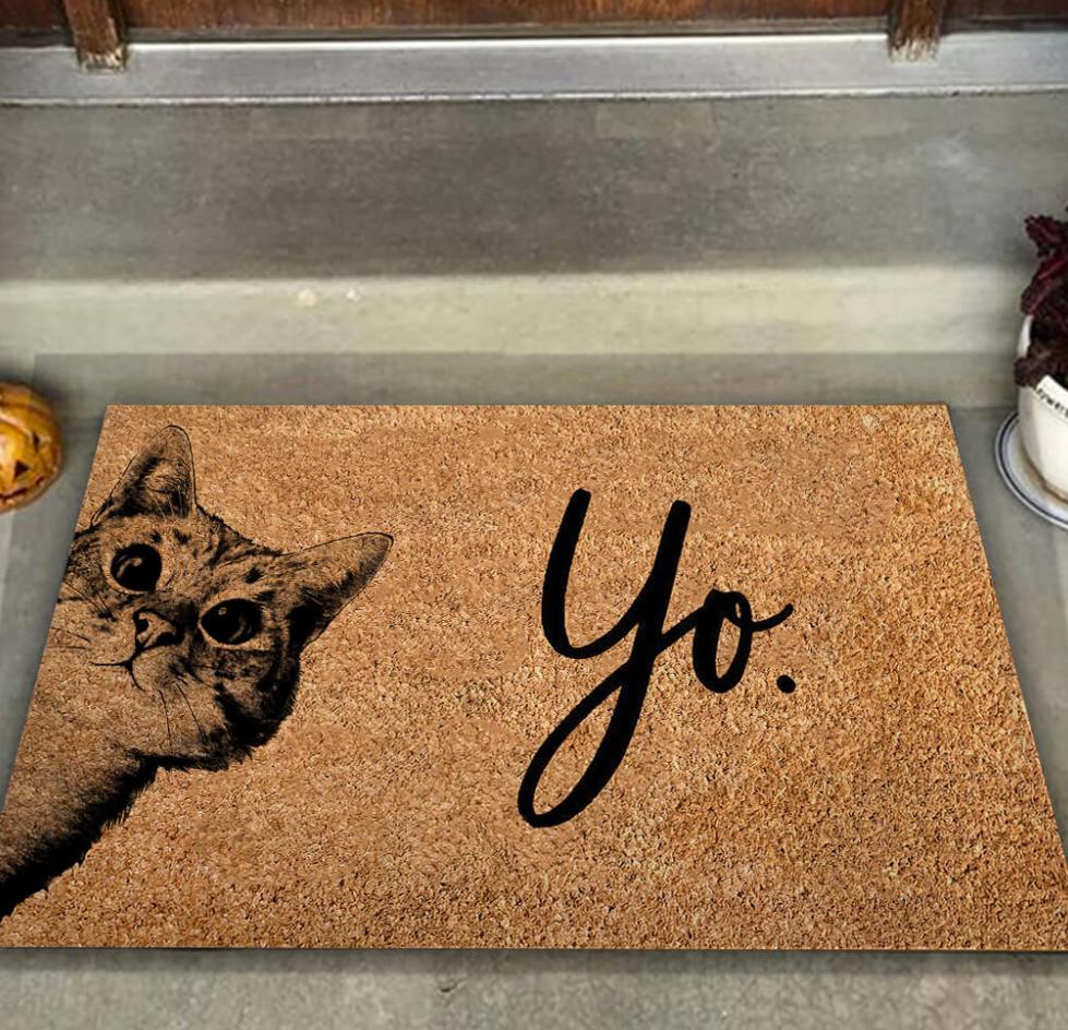 Cat yo doormat