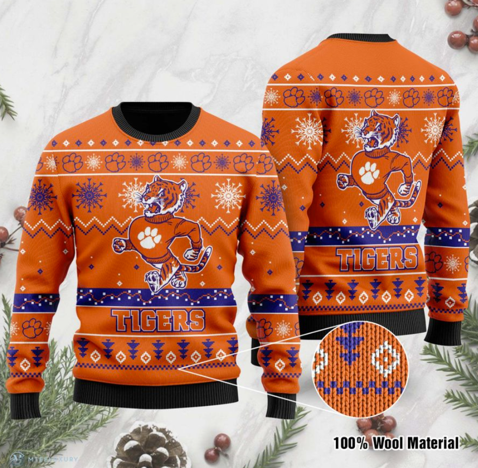 Clemson Tigers football ugly sweater