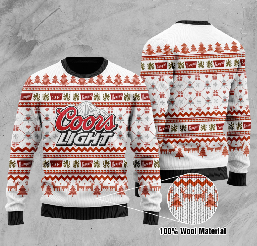 Coors Light ugly sweater