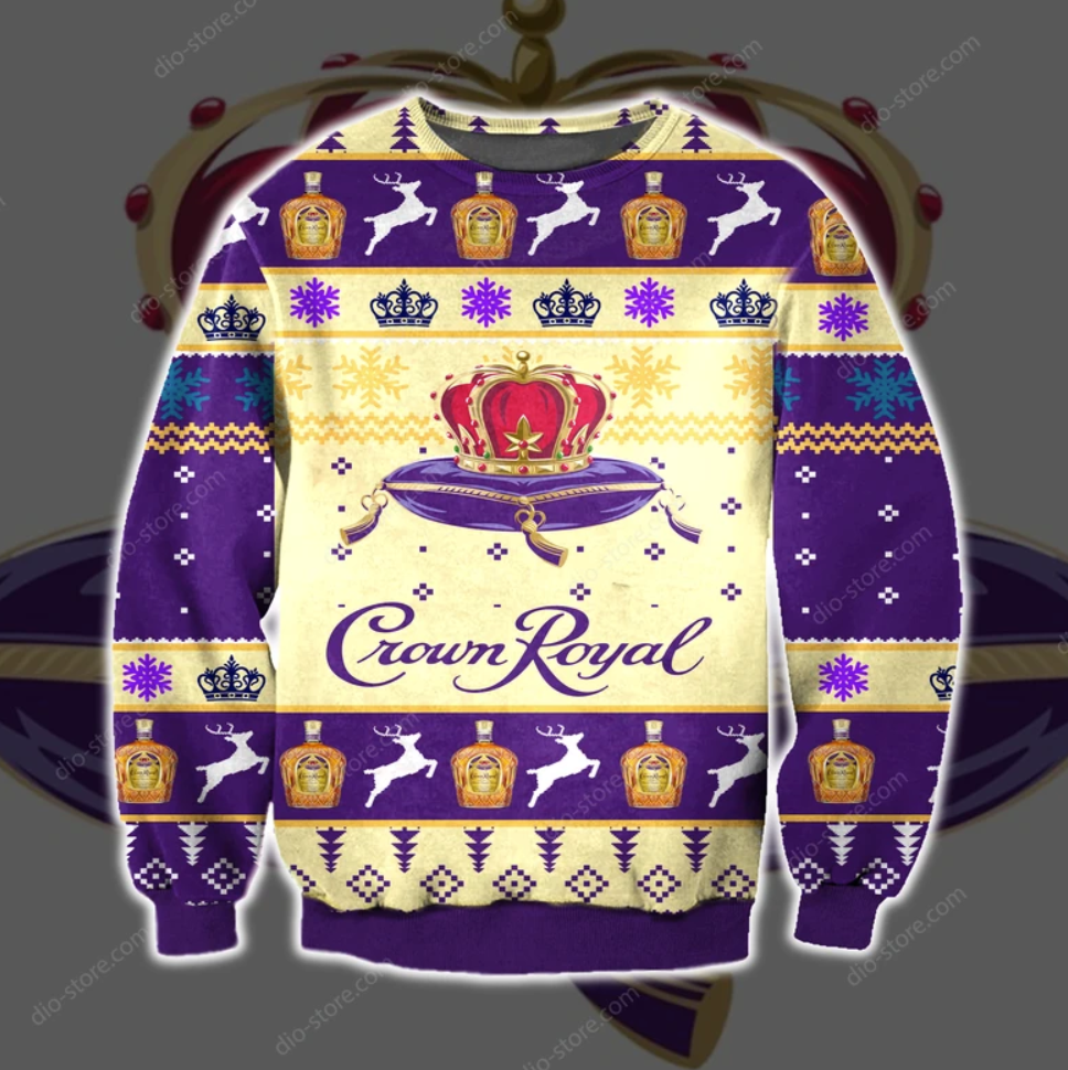 Crown Royal 3D ugly sweater