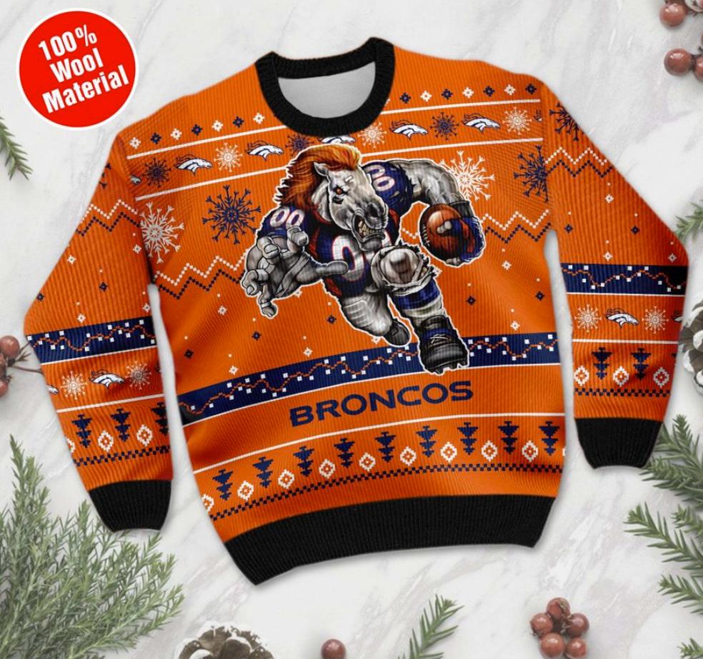 Denver Broncos ugly sweater 1
