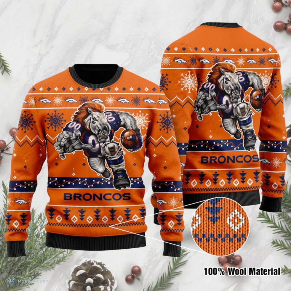 Denver Broncos ugly sweater