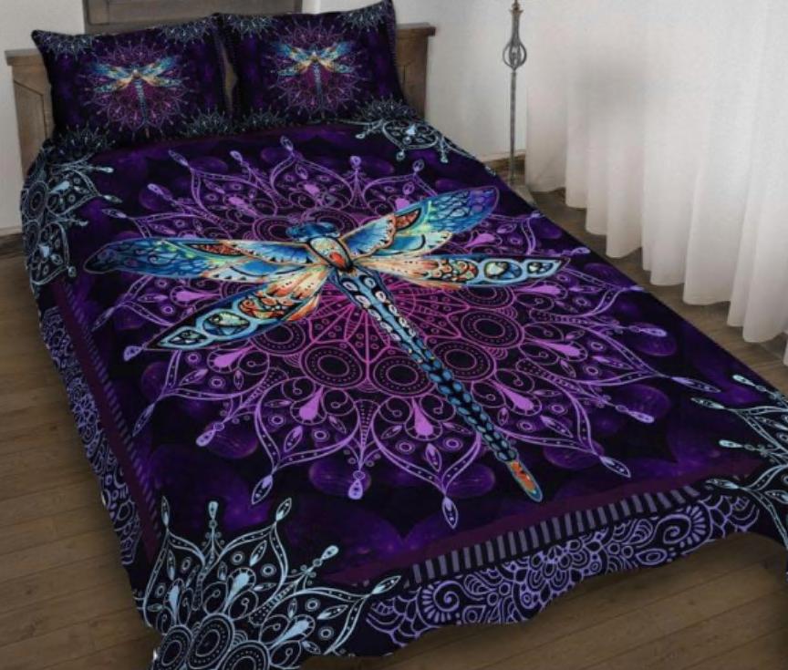 Dragonfly bedding set