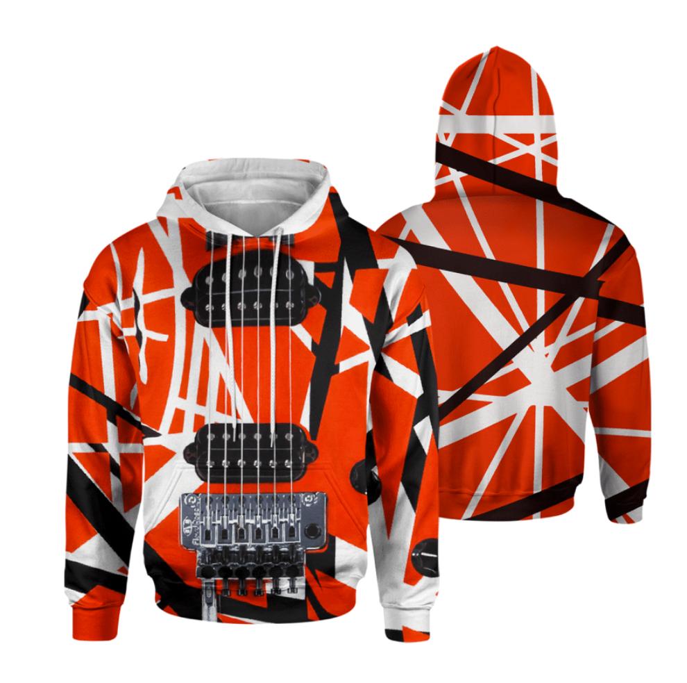 Eddie Van Halen all over printed 3D hoodie