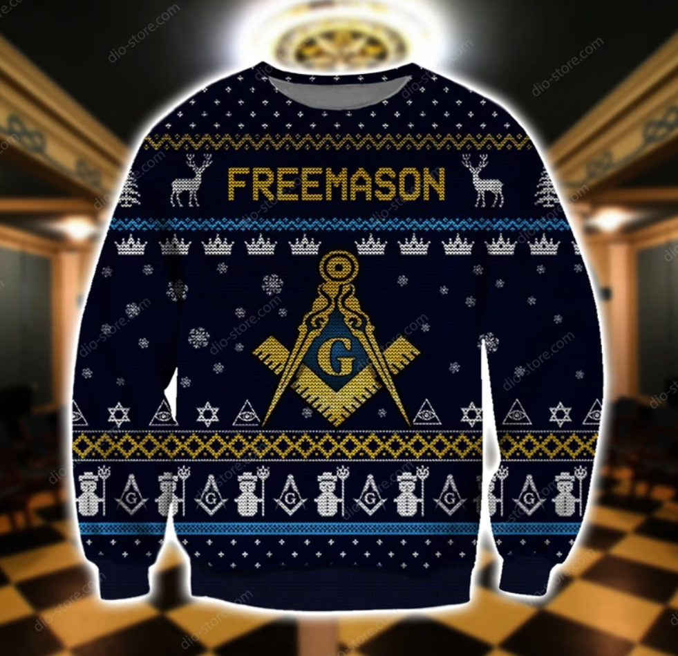 Freemason 3D ugly sweater