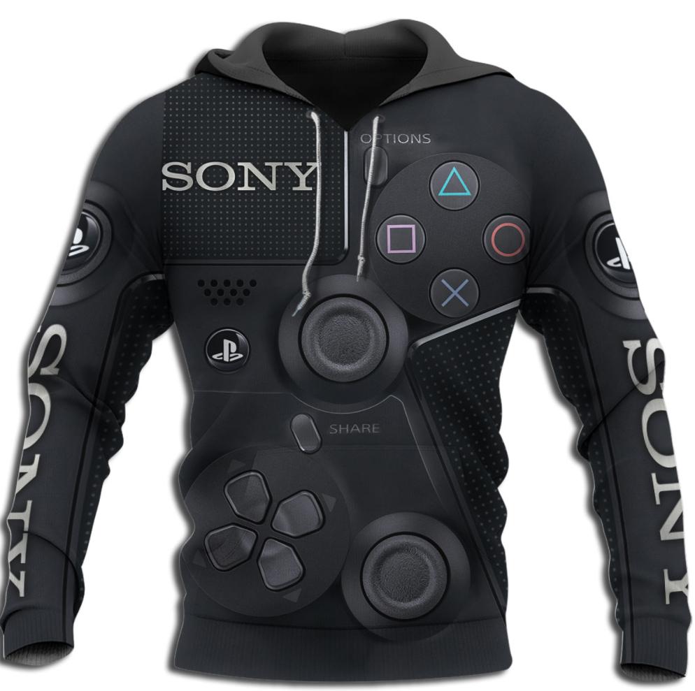 Gamepad Sony all over printed 3D hoodie