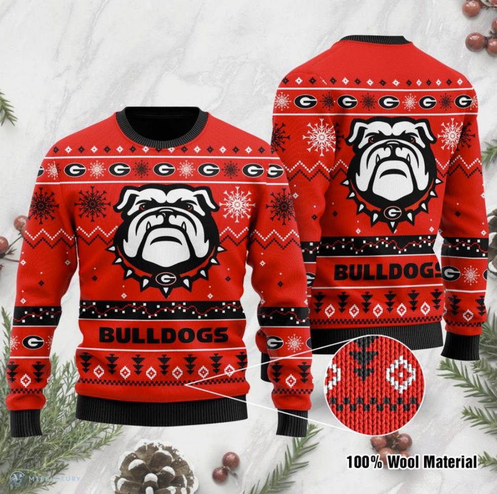 Georgia Bulldogs football ugly sweater