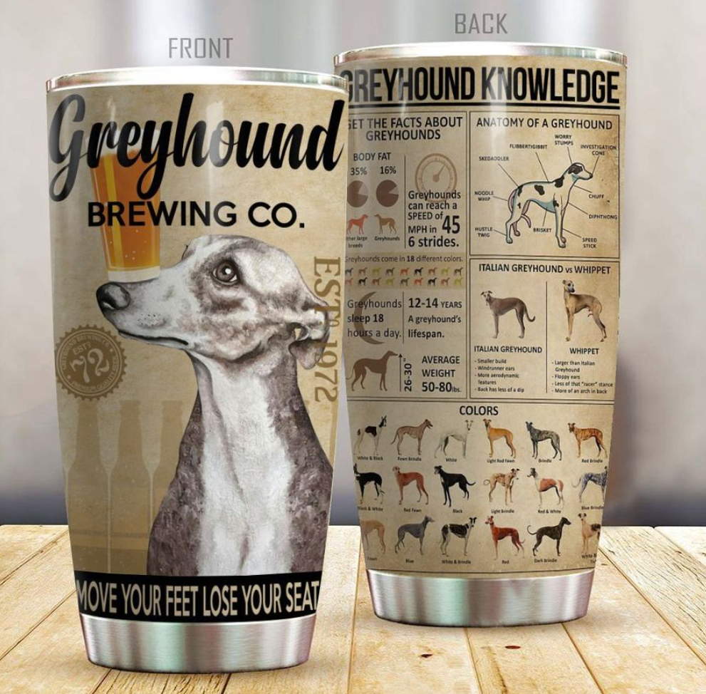 Greyhound brewing co tumbler
