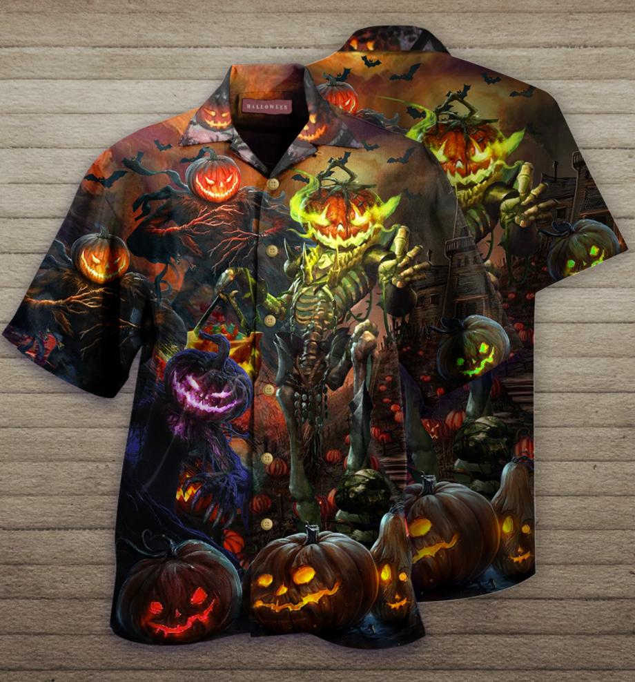Halloween Pumpkin King hawaiian shirt