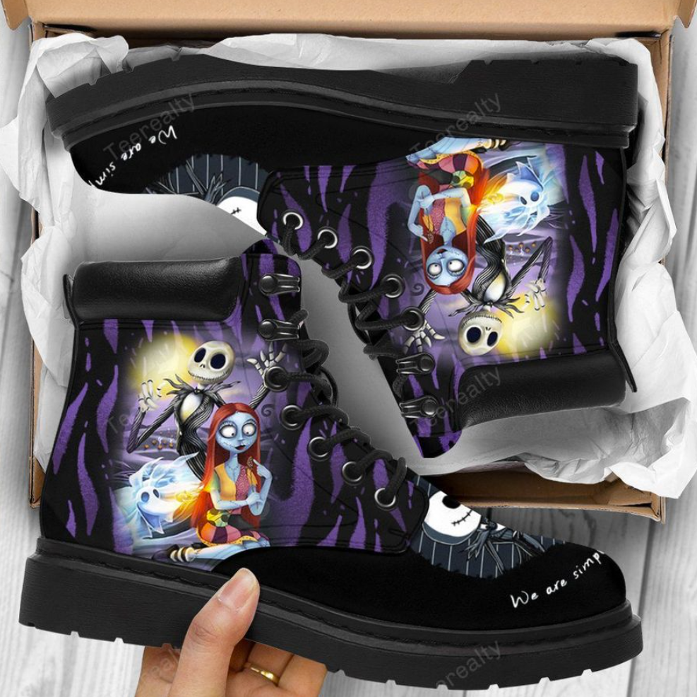 Jack Skellington and Sally we are simple timberland boots