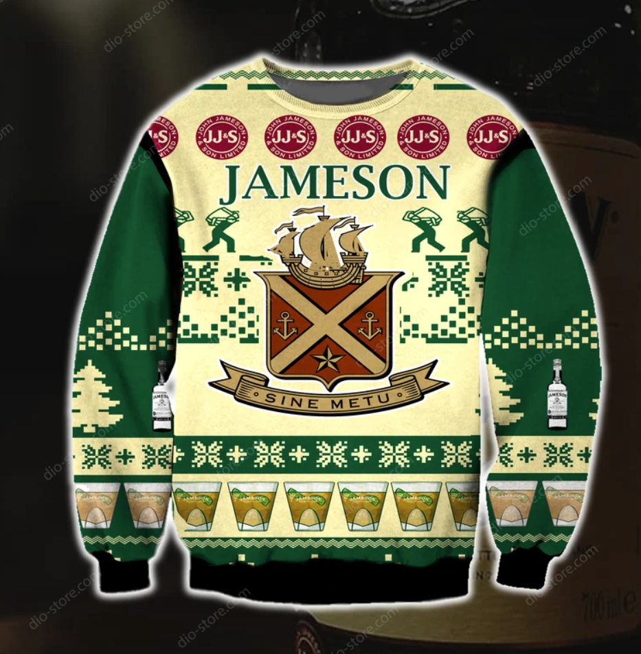 Jameson 3D ugly sweater