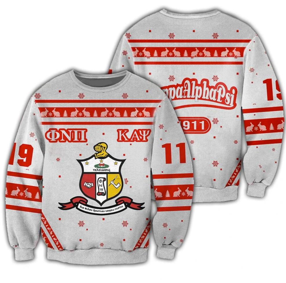 Kappa Alpha Psi 3D ugly sweater
