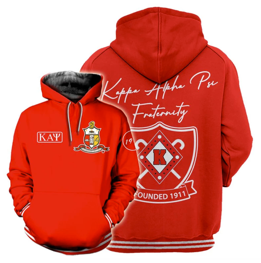 Kappa Alpha Psi founded 1911 all over printed 3D hoodie