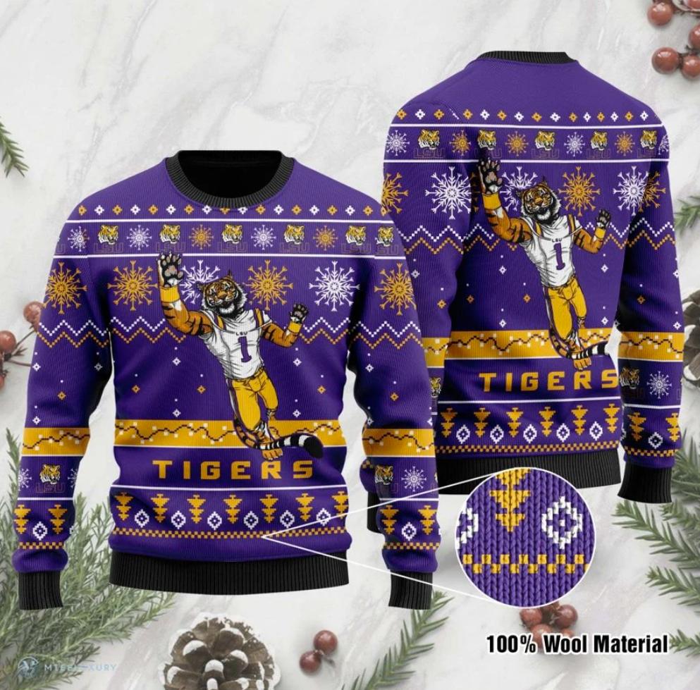 LSU Tigers football ugly sweater