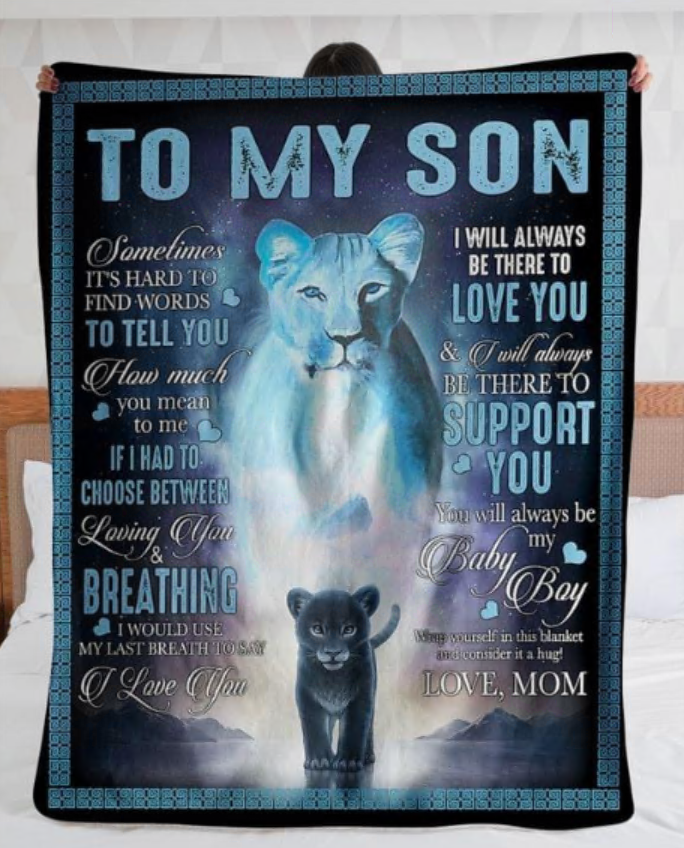 Lion to my son i will always be there to love you mom quilt