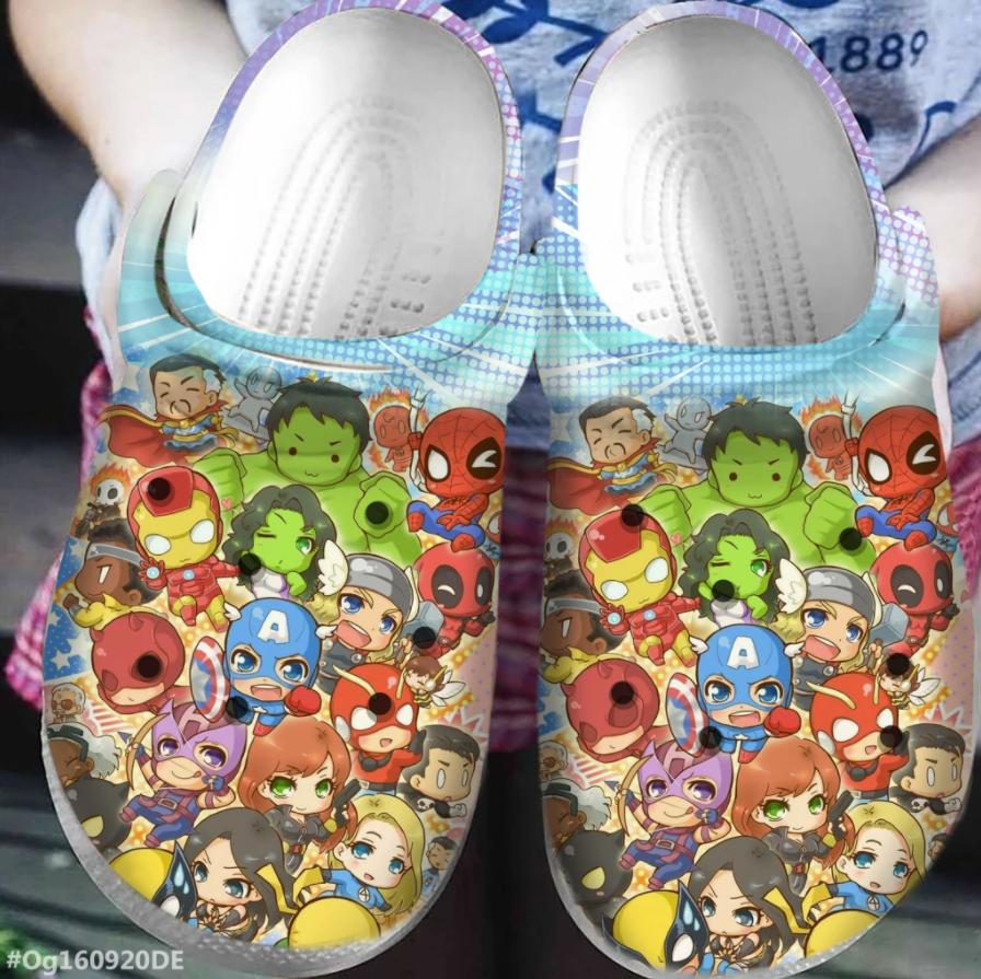 Marvel heroes chibi crocs crocband