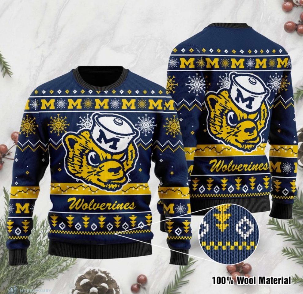Michigan Wolverines football ugly sweater