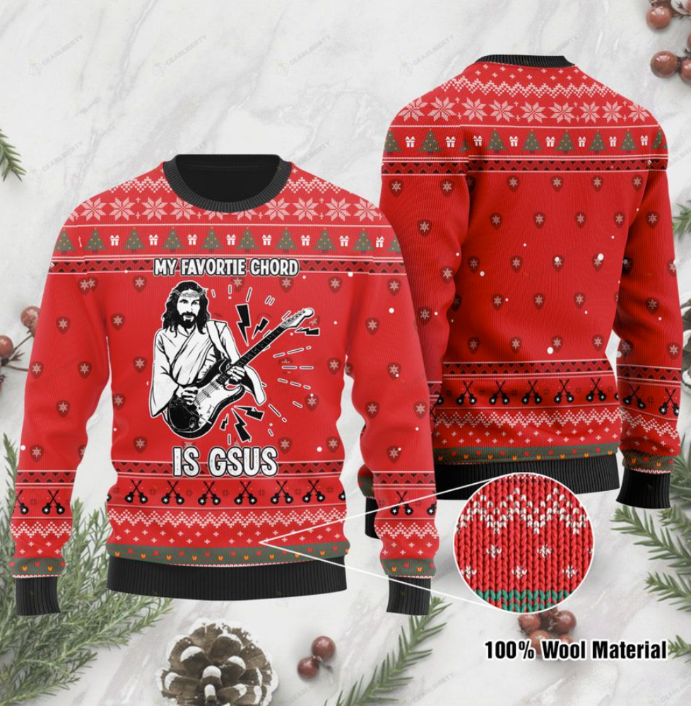 My favorite chord is gsus ugly sweater