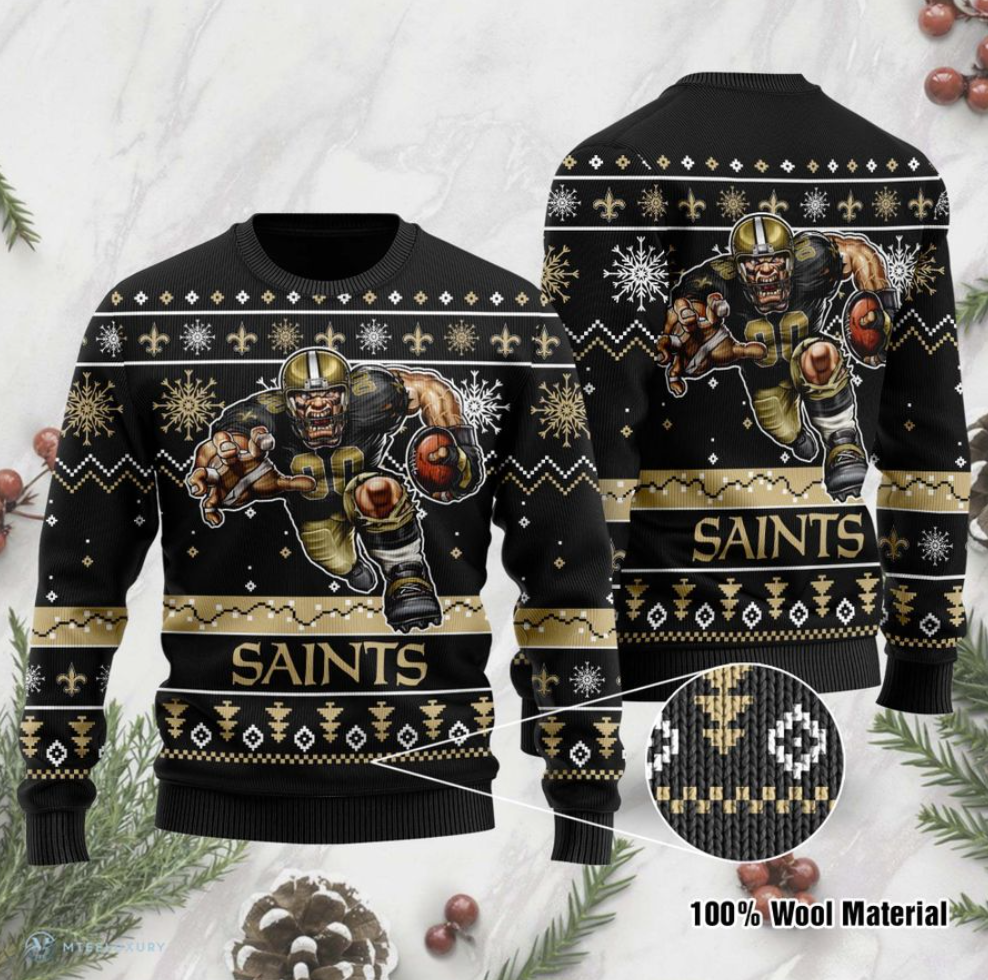 New Orleans Saints ugly sweater