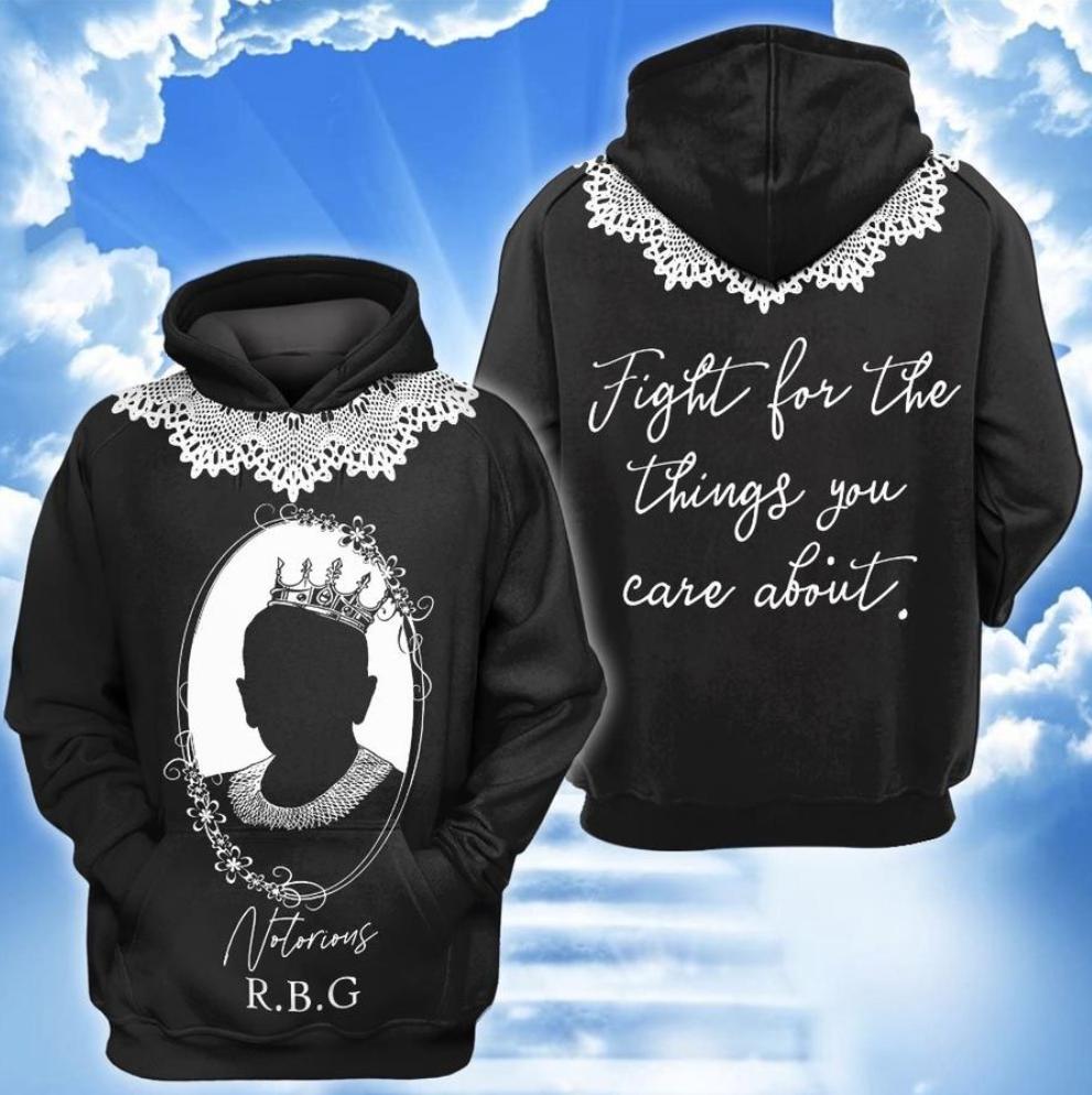 Notorious RBG all over printed 3D hoodie
