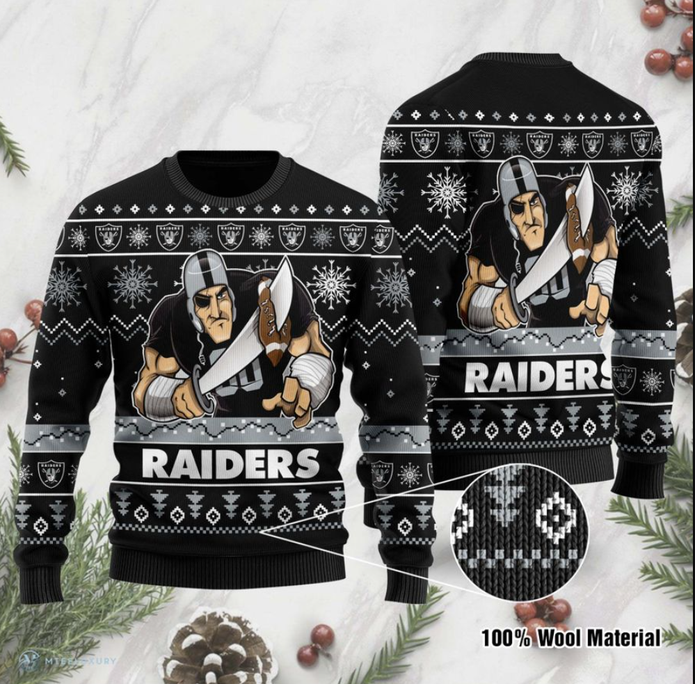Oakland Raiders ugly sweater