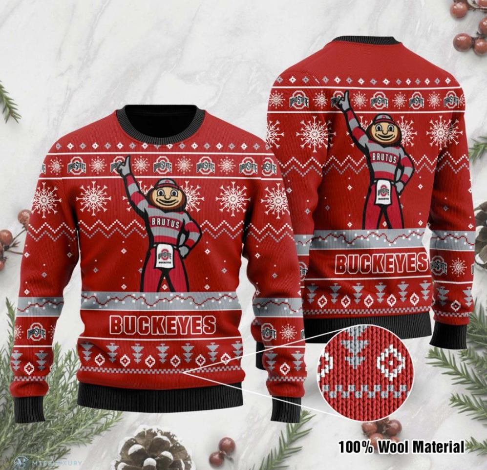 Ohio State Buckeyes football ugly sweater